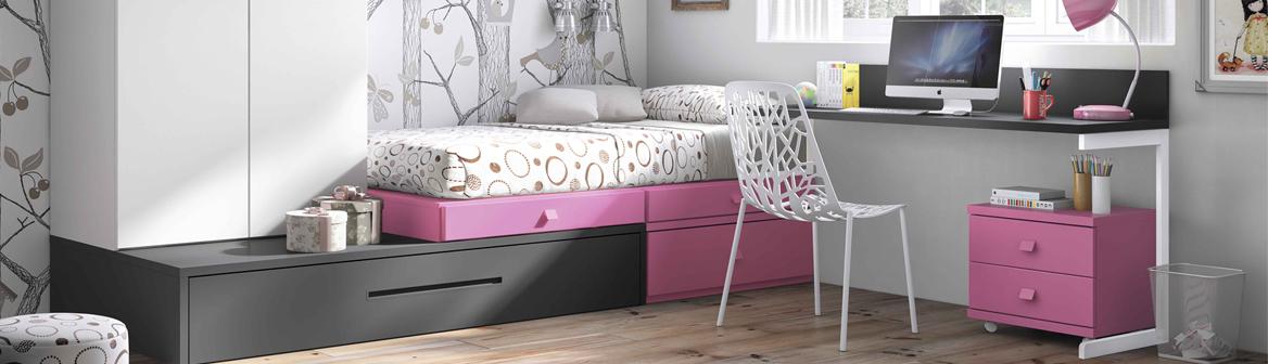 La cama nido en la decoraci n de habitaciones juveniles for Estructura cama nido 105