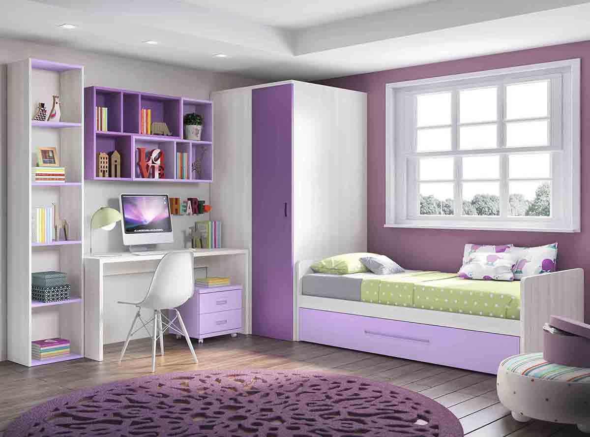 La cama nido en la decoraci n de habitaciones juveniles - Habitaciones infantiles cama nido ...