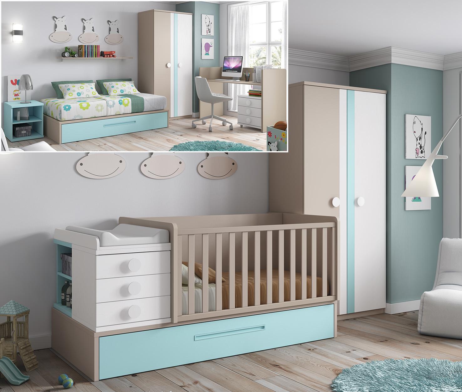 Habitaciones Infantiles Convertibles Todo Son Ventajas ~ Dormitorios Infantiles A Medida